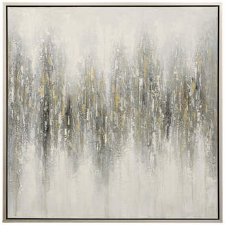 """Stylecraft Hand Painted Abstract Canvas Art With Silver Frame, 40""""x40"""""""