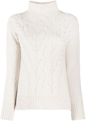 Vince Roll Neck Chunky Knit Jumper
