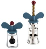 Alessi Pair of Bottle Opener and Bottle Stopper Set
