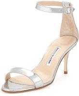 Manolo Blahnik Chaos 70mm Patent Ankle-Strap Sandal