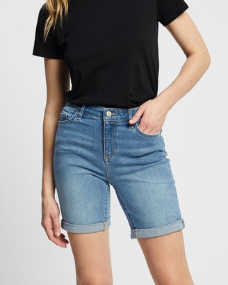 Lee Women's Blue Denim - Knee Length Shorts - Size 6 at The Iconic