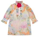 Gucci Girl's Flower Ruffle Silk Organza Dress