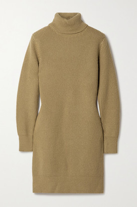 MICHAEL Michael Kors Ribbed-knit Turtleneck Mini Dress - Tan