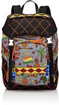 Prada Men's Mixed-Print Backpack