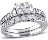 Julie Leah 1 CT TW Diamond 10K White Gold Bridal Set