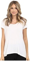Heather Scoop Neck Tee