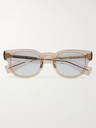 Eyevan 7285 D-Frame Acetate Sunglasses - Men - Purple