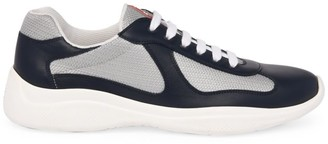 Prada America's Cup Leather & Technical Fabric Sneakers