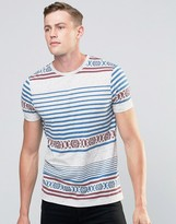 Asos T-Shirt With Geo-Tribal Print In Textured Fabric