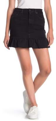 Levi's Good Raw Hem Ruffle Denim Skirt