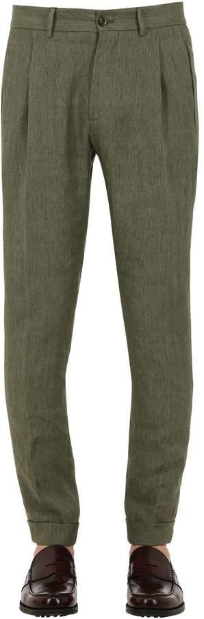 Etro Slim Fit Linen Trousers