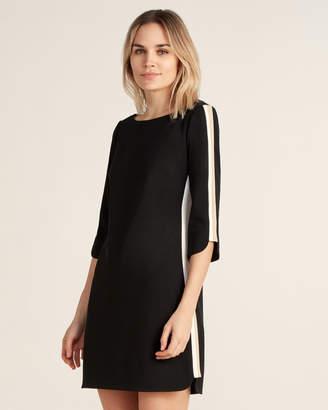 Vince Camuto Contrast Stripe A-Line Dress
