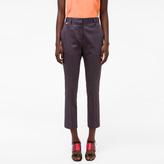 Paul Smith Women's Slim-Fit 'Diamond' Print Stretch-Cotton Trousers
