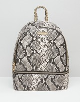 Aldo Faux Snake Backpack With Zip Around Pocket