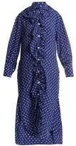 Marni Ruffled-placket fleck-print silk shirtdress