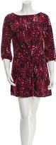 Thakoon Long Sleeve Printed Dress