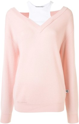 T By Alexander Wang Oversized Layered Jumper