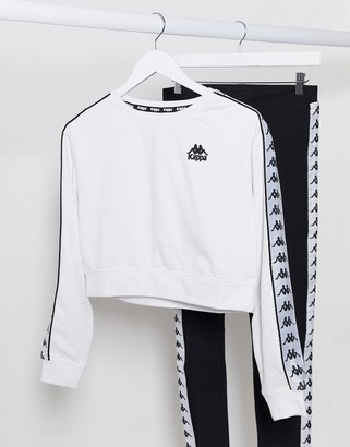Kappa cropped sweater in white