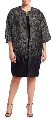 Marina Rinaldi, Plus Size Elegante Festival Silk-Blend & Lurex Jacket