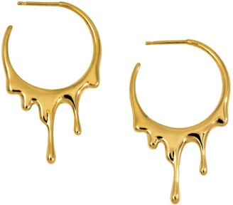Marie June Jewelry Dripping Circular S Gold Earrings