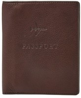 Fossil Men's Leather Passport Case - Black