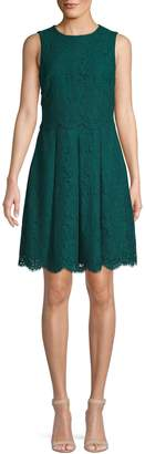 Vince Camuto Sleeveless Lace Fit--Flare Dress