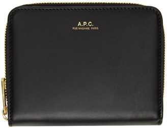 A.P.C. Black Emmanuelle Compact Wallet