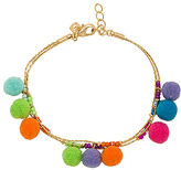 Rebecca Minkoff Savanna Pom Pom Bracelet in Metallic Gold.