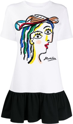 Moschino sequin-embroidered T-shirt dress