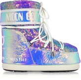 Moon Boot Classic 50 Glicine Leather Hologram Boots