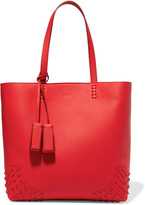 Tod's Wave Embellished Textured-leather Tote