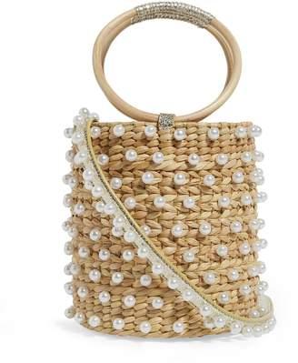 Poolside Embellished Bobbi Bucket Bag