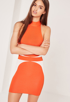 Missguided Bandage Racer Dress Orange
