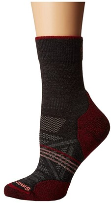 Smartwool PhD(r) Outdoor Light Mid Crew (Charcoal 1) Women's Crew Cut Socks Shoes