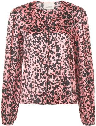 Laneus Leopard Print Shirt