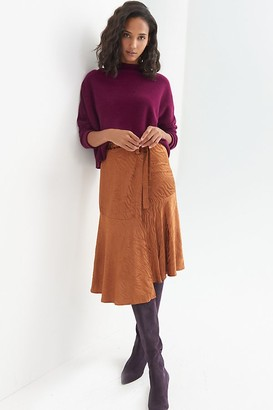 Maeve Tamra Jacquard Midi Skirt