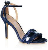 True Decadence Velvet Pleated Sandals