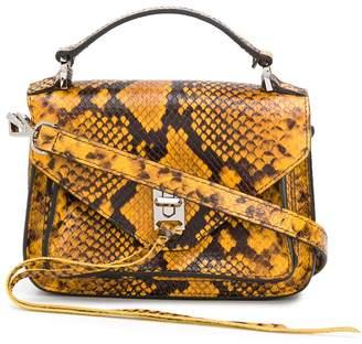 Rebecca Minkoff mini Darren snakeskin-effect satchel