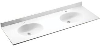 "Swan Ellipse Solid Surface 61"" Double Bathroom Vanity Top Top Finish: Tahiti Matrix"
