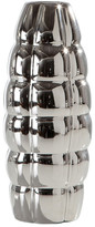 Torre & Tagus Chrome Blimp Ceramic Short Vase