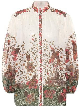 Zimmermann Empire Batik printed blouse