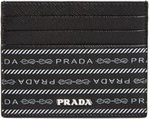 Prada Logo Print Leather Card Case