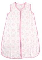 Hudson Baby Muslin Sleeping Bag - Pink Damask