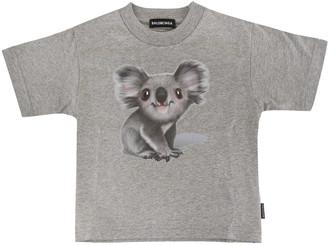 Balenciaga Grey Kid T-shirt With Koala