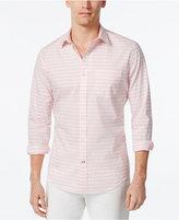 Tommy Hilfiger Men's Big & Tall Innis Marled Stripe Long-Sleeve Shirt