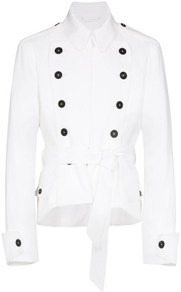Ann Demeulemeester Double-Breasted Military Jacket