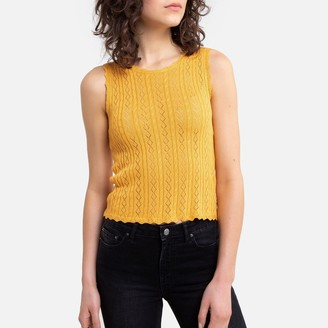 Freeman T. Porter Sleeveless Tank Top in Fine Openwork Knit
