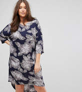 Junarose 3/4 Sleeve Floral Print Dress