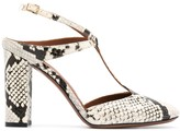 L'Autre Chose high heel snakeskin print pumps