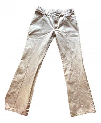 Stefanel Gold Cotton Trousers